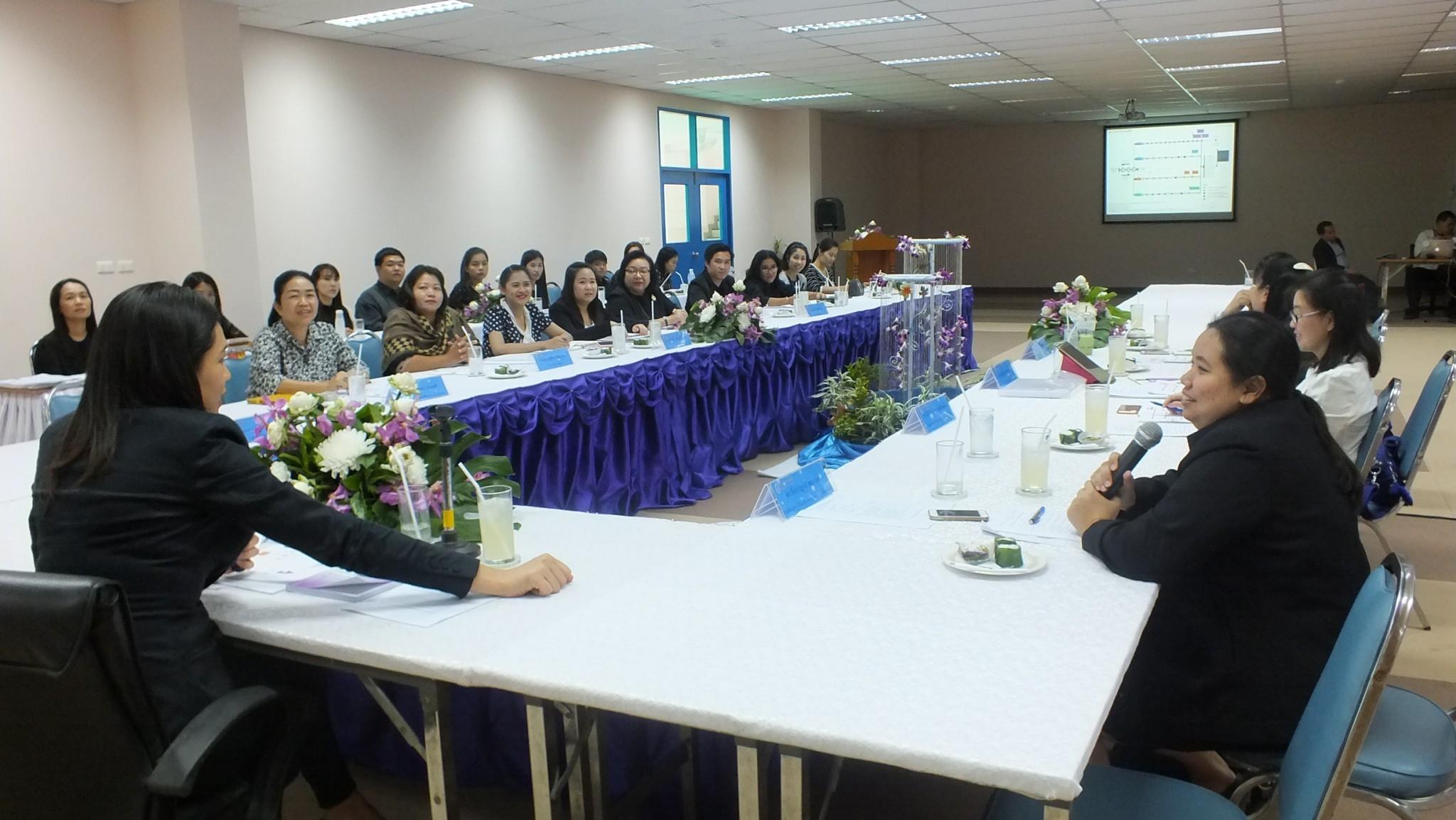 ศูนย์การศึกษานอกที่ตั้ง นครนายก ต้อนรับสำนักบริหารกลยุทธ์ ในการประชุมเรื่อง การประกันคุณภาพการศึกษา SDU QA