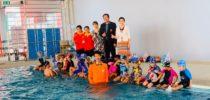 ศูนย์ฯนครนายก ร่วมกับ โรงเรียนอนุบาลนครนายก ศรีประชานคร จัดกิจกรรมการเรียนการสอนว่ายน้ำให้กับนักเรียนชั้นอนุบาล